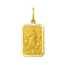 Pingente Medalha Nossa Senhora Da Conceição Ouro 18k Médio