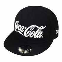 Boné Aba Reta Snapback Da Coca Cola Preto E Vermelho