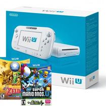 Wii U Wiiu Basic 8gb Branco - 2 Jogos Original E-sedex 6,07