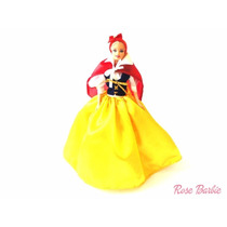 Vestido Para Boneca Barbie Branca De Neve E Os 7 Anões