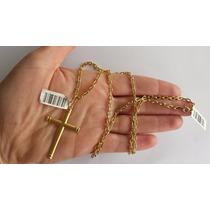 Cordão Corrente Cartier + Pingente Em Ouro 18k 750 8.40gr