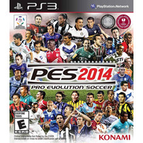 Jogo Pes 2014 Ps3 14 Midia Fisica Futebol Times Brasileiros