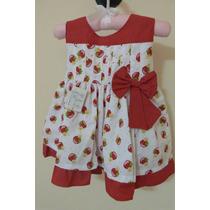 Vestido De Festa Moranguinho Bebê