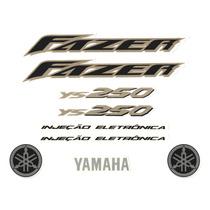 Kit Adesivos Yamaha Fazer Ys 250cc 2007 Vermelha