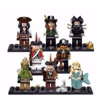 Piratas Do Caribe Jack Sparrow Compatível Lego 8 Pçs/lote