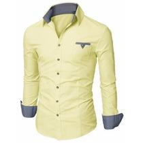 Camisa Social Slim Premium Estilo Dubai Pronta Entrega