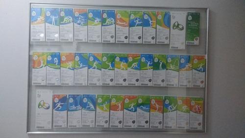 Coleção De Ingressos Das Olimpíadas Rio 2016