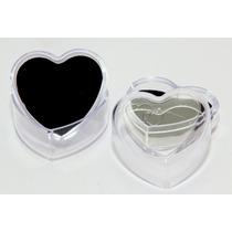 Lote C/90 Embalagem Coração Acrilico