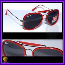 Óculos 3428 Road Spirit Vermelho Lente Preta Polarizada