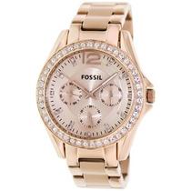 Relógio Feminino Fossil Es2811 Rose Novo Original