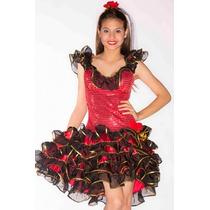 Fantasia Espanhola Vestido Luxo Com Véu Infantil Tam 12