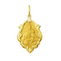 Leão Jóias Medalha Nossa Senhora Do Carmo Ouro 18k 2,5 Cm