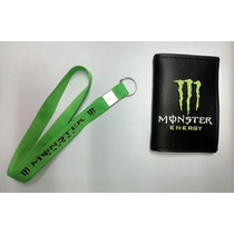 Kit Carteira Porta Documento + Chaveiro Monster