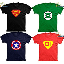 Camisetas Super Herois Capitao America Batman Lanterna Verde