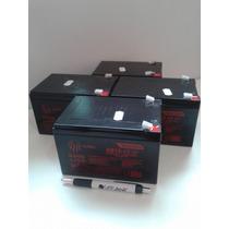 Kit 4 Bateria 12v 12ah Bike Elétrica 6-dzm-10 6-dzm-12