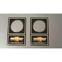 Protetor De Fechadura 34mm Chevrolet Dourado / Preto