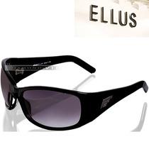 Óculos De Sol Ellus Feminino Preto Acetato Novo Original