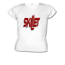 Camisetas Baby Look Banda Skillet -feminino