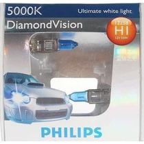 Lampada Diamond Vision Phillips H1 5000k Efeito Xenon Hid