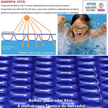 Capa Piscina Térmica Atco Bolha Advanced Blue 8 X 3,5 M