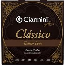 Jogo De Cordas Para Violão Classico Leve Nylon Giannini