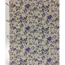 Caderno Universitário Argolado Fichário Floral Azul 192 Fls