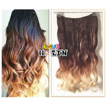Alongamento Aplique Tic Tac Californiana Ombré Hair 60cm