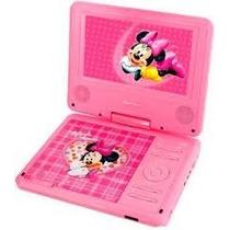 Dvd Portátil Infantil Disney Minnie Tela 7 Pol. Tv , Jogos