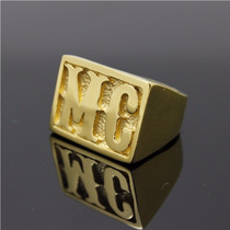 Anel Mc Aço Titanium Ouro Importado Jimmy Joe Los Angeles