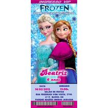 60 Convite Infantil Ingresso Frozen Ben10 Peppa Aniversário