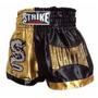 Shorts Muay Thai Kick Boxing - Preto Com Dourado - P