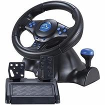 Volante Multilaser Racer 3 Em 1 Para Ps2, Ps3, Pc Js073 Azul