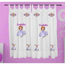 Cortina Infantil Princesa Sofia Personalizada Com Nome