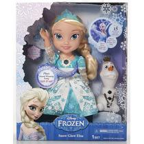Boneca Frozen Musical Original Disney Elsa Cantora + Olaf