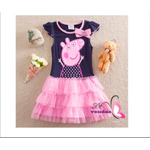 Vestido Infantil Peppa Pig Pronta Entrega