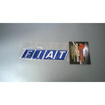 Emblema Fiat Azul Resinado