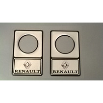 Protetor De Fechadura 32mm Renault Preto / Prata