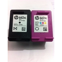 Kit Cartucho Hp 662xl Preto + Cartucho 662 Xl Color 1 Carga