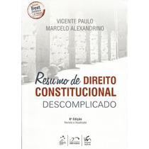 Livro Resumo De Direito Constitucional Descomplicado