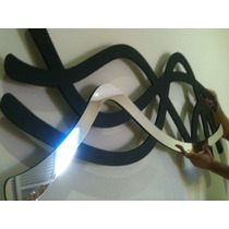 Quadro Abstrato Escultura Parede Mdf C/espelho 1,50 M Grande