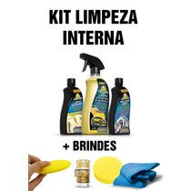 Kit Limpeza Interna Autoshine Couro Plastico + Brindes