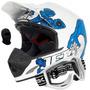 Capacete Motocross Pro Tork Jett Veneno Azul Branco Oculos