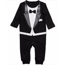 Body Black Tie Bebe Macacão Homenzinho Social Terno Gravata