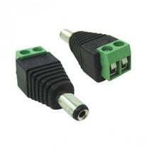 Conector P4 Macho Borne Ligação Alimentação Camera Segurança