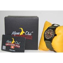 Relógio Suiço Alpine Club Switzerland Novo Esportivo Smw.3
