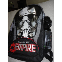Mochila Star Wars Galactic Empire + Garrafa Lord Vader Origi