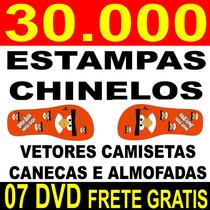 Estampa P/ Chinelos Infantis+de 1450 Pares, 100% Vetor