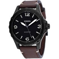Relógio Masculino Fossil Jr1450 Nate Couro Marrom Original
