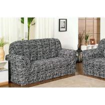 Capa Para Sofa 2x3 Estampada 21 Elastico - Nanda Enxovais
