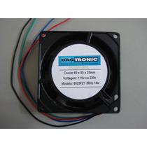 Microventilador E7 Cooler Fan Ventoinha 80x80x25mm 110v 220v